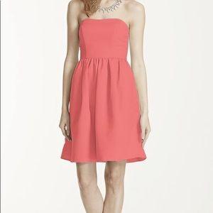 Coral strapless dress w/ optional straps